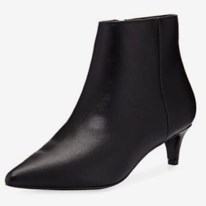 Chic Black Kitten Heel Pointed Ankle Booties